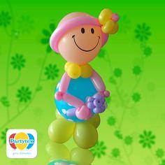 Muñeca elaborada con globos R-12 y Mil figuras Partytex