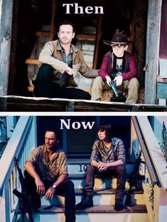 Carl and Rick then and now. Some of my most favorite scenes are between these two.