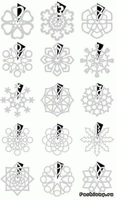 DIY : Paper Snowflakes Templates by Hairstyle Tutorials - Christmas DIY Holiday Fun, Christmas Holidays, Christmas Ornaments, Christmas Snowflakes, Christmas Paper, Paper Art, Paper Crafts, Diy Crafts, Cut Paper