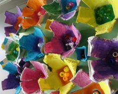 egg carton flowers :)