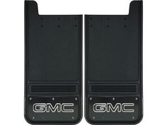 "These Truck Hardware Gatorback Black GMC Text with Black Wrap Full Style Mud Flaps are designed to fit great on lifted single rear wheel wells of full size Chevrolet trucks or SUVs. They offer an extra 3 inches of heavy duty rubber from the standard 12""x 23"" flaps.  This includes the GMC Sierra 1500, GMC Sierra 2500, GMC Sierra 3500. These flaps offer great protection for your truck their full rectangle design ensures that there will not be any debris that gets passed these flaps. The GMC…"