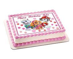 Paw Patrol Girls Edible Birthday Cake Topper