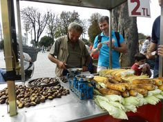 Corn and chestnuts