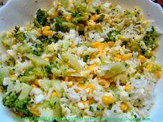 PotrawyRegionalne: SAŁATKA BROKUŁOWA Z RYŻEM Fried Rice, Fries, Cooking, Health, Ethnic Recipes, Food, Dinners, Kitchen, Dinner Parties