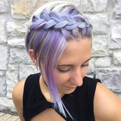 A mermaid came to the salon today for a cut. How amazing that she does her own color! 😍 And she let me braid it because I couldn't resist! Color by @ladylinguineeee Braid by me 😊 #hairbypelerossi #braidedpixie #braidedpixies #mermaidhair #mermadians #violethair #vibrantpixie #purplepixie #braidsforshorthair #shorthairbraids #hairstyleforpixiecut #festivalhair #festivalhairstyles #dutchbraid #pixiebraids #hotonbeauty #modernsalon #samvilla #cosmoprofbeauty #beautylaunchpad #behindthechai...