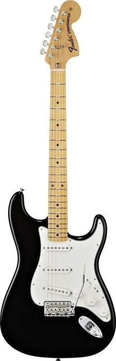 Fender Classic Series '70s Stratocaster The Fender'70s Stratocaster guitar features an ash body, U-shaped neck with bullet truss rod nut, maple or rosewood fingerboard, large headstock with'70s logo,