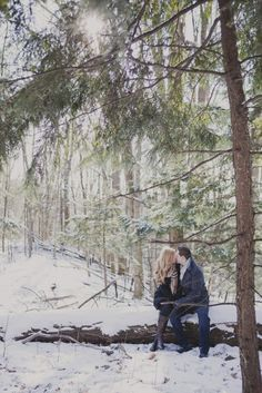 Winter Engagment....Really need to find someplace to take a pic like this!