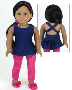 Namaste! A great outfit for your American Girl's yoga class!