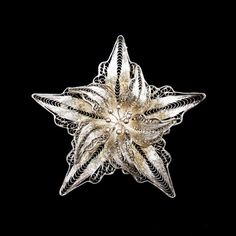 Filigree Flower Brooch Vintage Lily Marked 925 - RetroRageVictoria