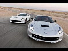 Edmunds.com takes both the Corvette Stingray and SRT Viper to the track for performance tests - 0-60 launches, quarter mile times, braking distances, slalom runs & skip pad ratings.