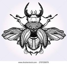 insect beetle blue tattoo - Buscar con Google