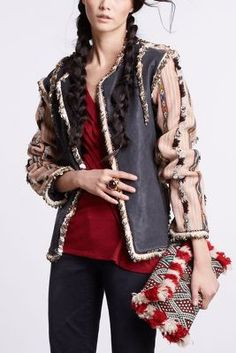 Agizul Leather Jacket- Anthropologie. Love it!
