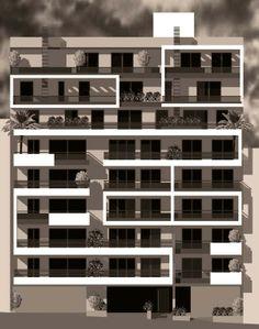 facade, apartment