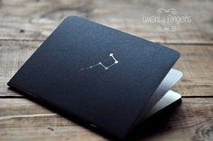 "Black Metallic  notebook-sketchbook with a carved pattern - constellation ""Ursa Major"""
