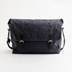 Factory oilcloth messenger bag