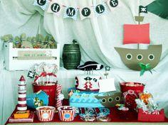 Decorar una fiesta pirata con mucha imaginación Pirate Theme, Pirate Party, I Party, Party Ideas, Ideas Para, Birthday Parties, Diy Crafts, Table Decorations, Holiday Decor