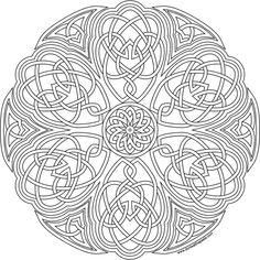 Flower Knot Mandala Coloring Pages Geometric Coloring Pages, Pattern Coloring Pages, Flower Coloring Pages, Mandala Coloring Pages, Coloring Book Pages, Coloring Sheets, Celtic Mandala, Celtic Quilt, Celtic Art