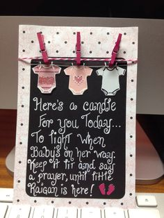 Baby Shower Candle Favor Sign...Handcrafted by Studio Eighty Six