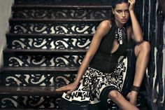 Donna Karan Spring 2012 ad with Adriana Lima