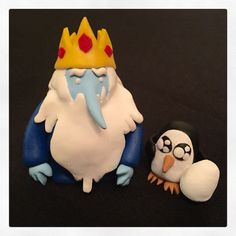 Polymer clay Ice King and Gunter with his baby cat egg ❤️ adventure time!