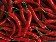 """Buy red peppers. Red color indicates """"burning"""" ability."""