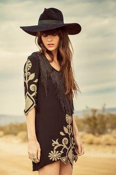 Wild Horses Dress - Black