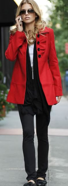 I think it's time for a new coat this year. I can see me wearing a bold solid color like this.