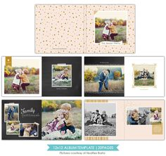 Free spirits | 12x12 Album template | Photoshop templates for photographers by Birdesign
