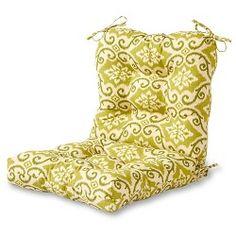 Set Of 2 Shoreham Ikat Outdoor High Back Chair Cushions - Kensington Garden : Target Outdoor Lounge Chair Cushions, Outdoor Chairs, Wicker Patio Furniture Sets, High Back Chairs, Cushion Filling, Outdoor Fabric, Ikat, Target, Bakken