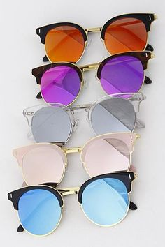 Round Tinted Sunglasses An employee favorite! These sunglasses speak for themselves and instantly add style to any outfit. Trust us when we say you'll find yourself styling outfits around UV Protection Reflective Sunglasses, Round Lens Sunglasses, Flat Top Sunglasses, Cute Sunglasses, Cat Eye Sunglasses, Mirrored Sunglasses, Sunglasses Women, Summer Sunglasses, Sunglasses Accessories