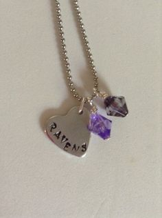Sports team necklace  up to 5 letters by ddbrown83 on Etsy