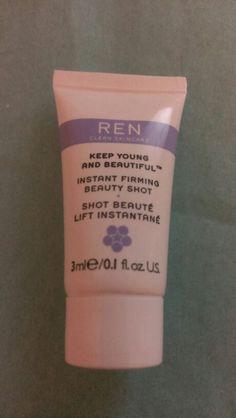 REN Instant firming beauty shot. NEW