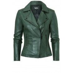 Azra Leren Jas Groen Leather Jacket, Jackets, Fashion, Studded Leather Jacket, Down Jackets, Moda, La Mode, Leather Jackets, Fasion