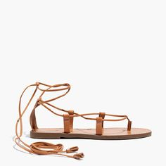 "In rich, smooth leather with gladiator-style laces trimmed in handmade tassels, these sandals are destined to be the pair you reach for as often as your favorite jeans. Please note: When you select your size, ""H"" equals a half size.  <ul><li>Leather upper.</li><li>Faux crepe sole.</li><li>Import.</li></ul>"
