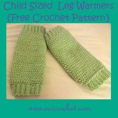 Child Sized Leg Warmers {Free Crochet Pattern}