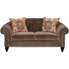 5180-02DELUXELV 74  Taupe Upholstered Loveseat