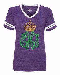 Monogrammed Mardi Gras Shirt – MonogramJunkie