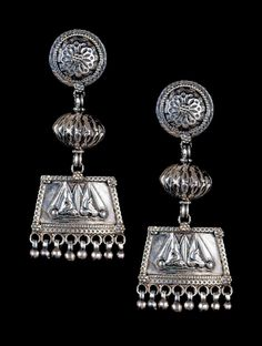 Tribal Earrings   Ethnic and ornate, this pair of 92.5% sterling silver earrings has been intricately handcrafted.  - Perfect accessory to pretty-up any understated outfit
