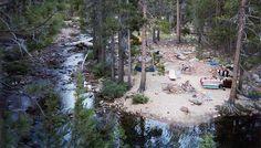 Campsite at Yosemite Creek campground, Yosemite National Park - campsite #4