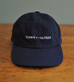 Tommy Hilfiger Navy Blue Hat Cap New with Tags 2002 One Size 8-20 #TommyHilfiger #BaseballCap