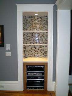 something like this for the built-in bar closet in our basement. Way better than what's there now!