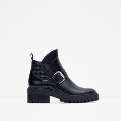 ZARA - WOMAN - QUILTED HIGH HEEL ANKLE BOOTS