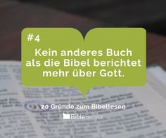Kein anderes Buch als die Bibel berichtet mehr über Gott. | #4 - 20 Gründe zum Bibellesen
