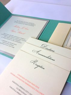 Tiffany Blue Wedding Invitation  Thermography by WhiteTieDesigns, $8.00