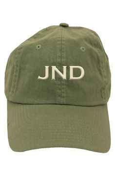 This personalized cactus green baseball hat is a 6 panel, unstructured, low profile hat made of cotton twill with an adjustable strap to fit most adults. It makes for a wonderful birthday gift or graduation gift! Turnaround time is 5-7 business days. For customization, please email Stylist@shoptiques.com with you choice of thread color, monogram style and monogram initials. All custom items are final sale.   Personalized Cactus Baseball-Hat by Party Cat. Accessories - Hats Austin, Texas