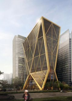 Citic Bank Headquarters Diagrid Lattice Inspired By The Chinese Symbol Of Wealth And Stability
