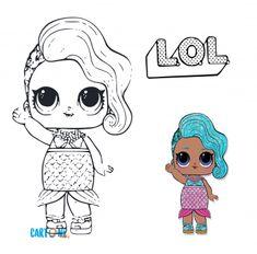 Splash Queen Coloring Page Lotta LOL | Unicorn coloring ...