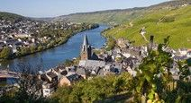 Visit this German town for wine festival in September.