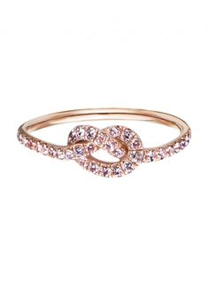 Pink Diamond/Rose Gold Love Knot Ring.
