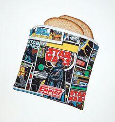 STAR WARS  Eco Friendly Reusable Sandwich Bag by RKEMdesigns